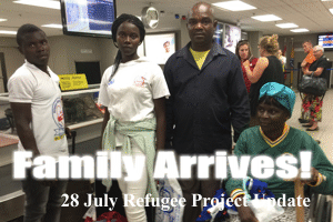 Liberian refugee family has arrived!