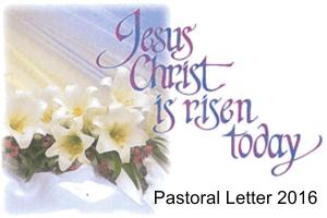 2016 Easter Pastoral Letter
