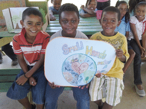 Earth Day posters in Belize