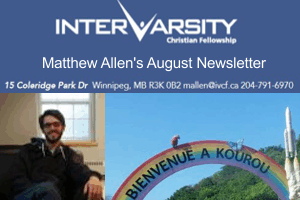 Trusting the Call – Matt Allen August Newsletter