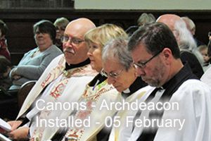 Installation of Canons and Archdeacon 05 February
