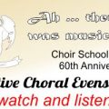 Ah … there was music – choir school evensong on July 9th