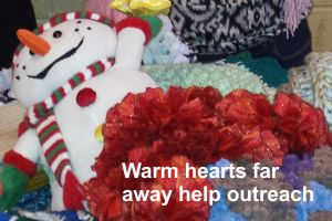 Warm hearts far away help outreach program