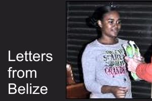 Thanks from Belize – Amieka Myers graduates