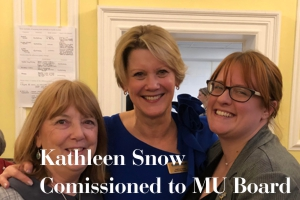 Kathleen Snow commissioned to MU Board