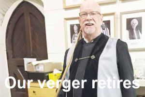 Our verger retires: after eighteen years of faithful service