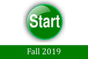 2019 Fall start up dates