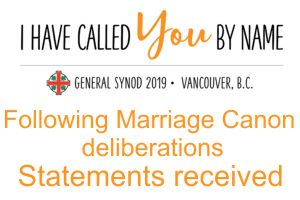 Statements to General Synod 2019