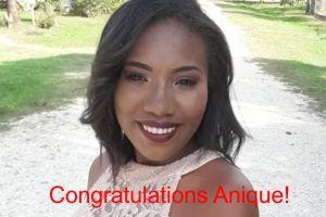 Congratulations Anique!