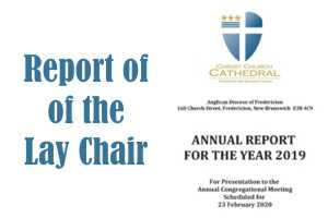 Report of the Lay Chair of Bishop and Chapter for 2019