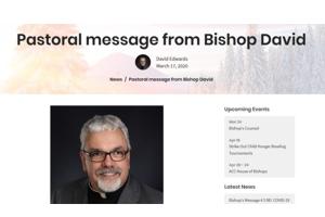 Bishop's Pastoral – 18 March 2020